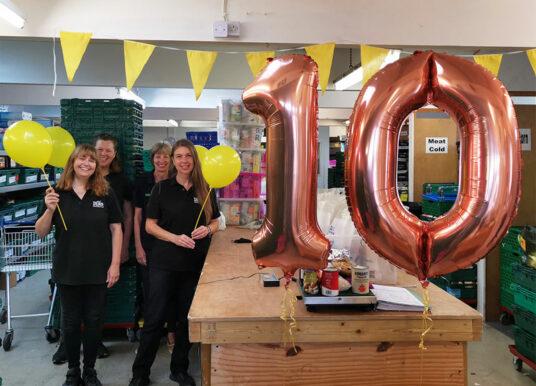 DENS Foodbank celebrates feeding the 40,000 and a special birthday